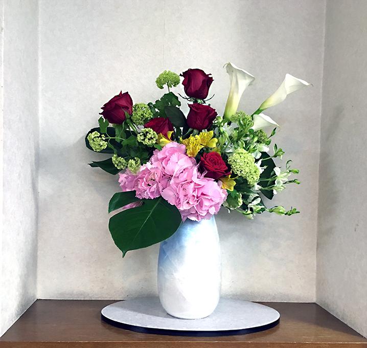 大ホールのお花