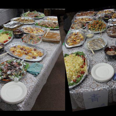 クリスマスパーティーは食事がいっぱい