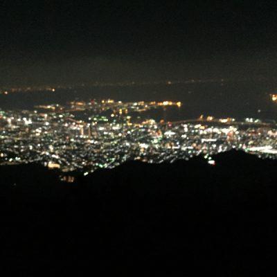 六甲山から見る神戸の夜景もきれいでした