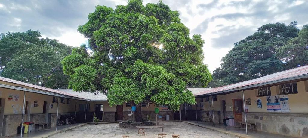 Chavuma Mission Hospital の中庭